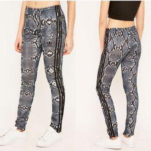 Adidas slim snake skin track pants